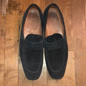 Italian leather suede loafers